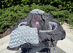 Shopping Seat Cart Cover - Faux Fur and Ultra Suede - Pets Now Shop In the Lap of Luxury, $110.00