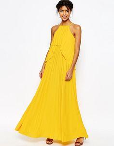 ASOS COLLECTION ASOS Ruffle Pleated Maxi Dress