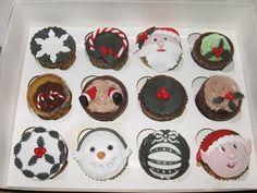 Criadora Implacável: Caixa de cupcakes com tema natalício