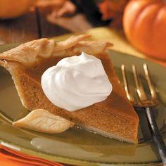 Pumpkin Pie Recipes from Taste of Home, including Apple Butter Pumpkin Pie Recipe