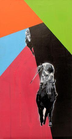Karol Drzewiecki, stencil, acryl, 2013 r.