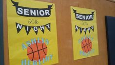Senior Night for Arroyo Grande HS girls basketball. Check out those posters!