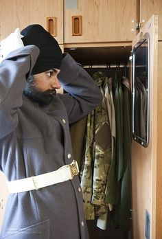 Scots Guards Soldier Wearing Sikh Turban by Defence Images, via Flickr