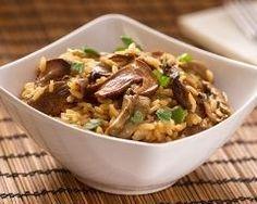 Poêlée de riz aux poireaux, champignons et parmesan (facile, rapide) - Une recette CuisineAZ