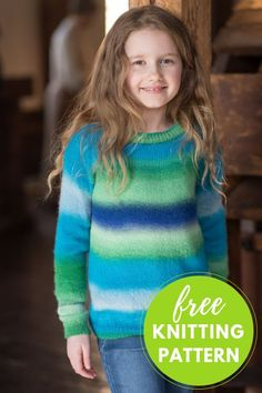 Jesse Kid's Sweater Free Knitting Pattern. Uses balls of machine washable Berroco Nebula yarn and fits children sizes Jesse Kid's Sweater Free Knitting Pattern. Uses balls of machine washable Berroco Nebula yarn and fits children sizes Knitting Blogs, Knitting For Kids, Free Knitting, Baby Knitting, Knitting Ideas, Knitting Projects, Knitting Machine Patterns, Sweater Knitting Patterns, Knitting Sweaters