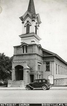 Methodist Church, Dodgeville, WI by gregorybj, via Flickr