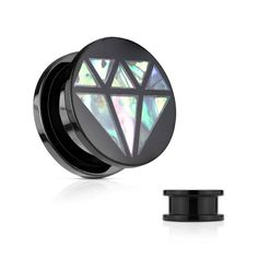 Before we start our weekend we want you to meet our new Abalone Inlaid #Diamond Front Black #Acrylic Screw Fit #Plugs #Hollywood #BodyJewelry #Piercing #Jewelry #BodyPiercing #FleshPlugs #Tunnels #FleshTunnels