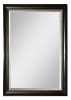 Dark Mahogany Wood Tone Mirror  Click here to purchase: http://www.houzz.com/photos/17637008/Dark-Mahogany-Wood-Tone-Mirror-transitional-mirrors