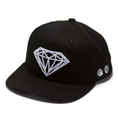 Diamond Supply Co. Brilliant Snapback Hat ($36) ❤ liked on Polyvore featuring accessories, hats, snapback hats, diamond supply co snapback, snap back hats and diamond supply co hats