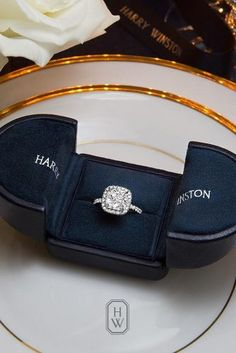 harry winston halo cushion cut engagement rings
