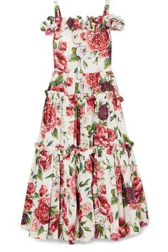 Dolce   Gabbana - Cold-shoulder floral-print cotton maxi dress e261a14eb69