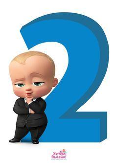Cifra Plakat 2 V Stile Boss Molokosos Na Den Rozhdeniya Skachat Baby Boss Birthday Party Number 2 Printa Baby Birthday Party Boy Boss Baby Baby Birthday Themes