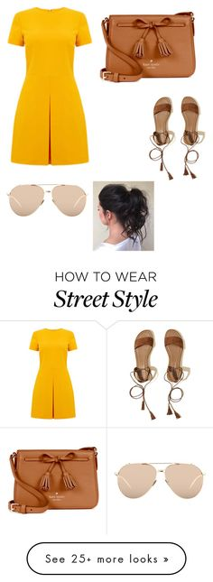 """""""Untitled #2"""" by aliyahmadera on Polyvore featuring Warehouse, Hollister Co., Kate Spade and Linda Farrow"""