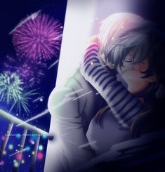 Kamisama Kiss 113: Fireworks by Zakuuya.deviantart.com on @deviantART   Kamisama Hajimemashita | Kamisama Kiss Fast manga coloring. Tomoe and Nanami's kiss from chapter 113