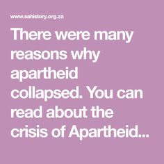 Cold war in 9 minutes history videos pinterest cold war there were many reasons why apartheid collapsed you can read about the crisis of apartheid in the 1980s in section 5 of the grade 12 material fandeluxe Choice Image