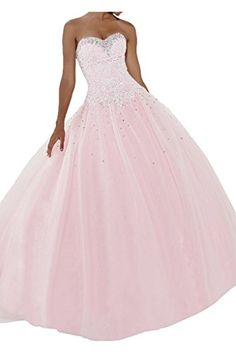 Gorgeous Bridal Pink Long Tulle Ball Gown Crystal Prom Quinceanera Dress For Pageants- US Size 2 Gorgeous Bridal http://www.amazon.com/dp/B00Z0DA0J8/ref=cm_sw_r_pi_dp_aZL5vb1XVXE1M