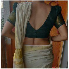 Blouse Back Neck Designs, Simple Saree Blouse Designs, Kerala Saree Blouse Designs, Saree Jacket Designs, Stylish Blouse Design, Fancy Blouse Designs, Simple Sarees, Sweater, Blouse Patterns