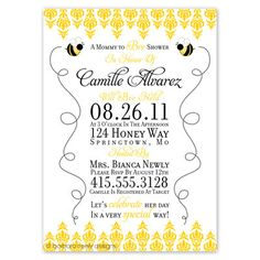 Mommy to Bee Invitations by bndesigns on Etsy, $35.00
