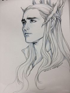 Thranduil, an exceptionally handsome king of Mirkwood