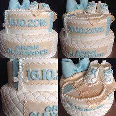 Arian Alexander wurde heute getauft und ich durfte die Torte für diesen Anlass gestalten. Cake, Work Shop Garage, Kuchen, Torte, Cookies, Cheeseburger Paradise Pie, Tart, Pastries