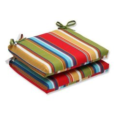 Pillow Perfect Outdoor Westport Garden Squared Corners Seat Cushion (Set of , Multicolor(Polyester, Striped), Outdoor Cushion Porch Swing Cushions, Custom Outdoor Cushions, Outdoor Cushions And Pillows, Buy Pillows, Lounge Cushions, Outdoor Dining Chair Cushions, Color Palate, Perfect Pillow, Chair Pads