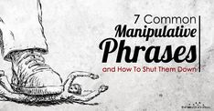 There are some common lines of thinking that manipulators like to exploit to get their way.Thankfully, all of them are easily shut down with common sense. Meaningful Quotes, Inspirational Quotes, Narcissistic Behavior, Psychology Facts, Psychology Questions, Emotional Abuse, Sweet Words, Powerful Quotes, Therapy Worksheets