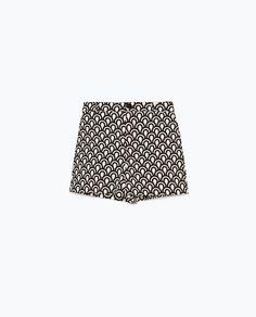 Zara High Waist Printed Shorts, $60; zara.com     - ELLE.com