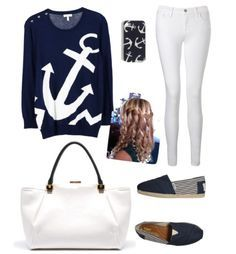 Navy Blue and White Anchor Outfit