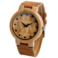 Handmade Wood Analog Quartz Watch with Genuine Leather Band – SouthBend Shop Cool Watches, Watches For Men, Wooden Man, Small Animal Cage, Pet Cage, Wooden Watch, Watch Model, Watch Sale, Quartz Watch