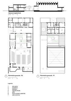 Gallery of Resurrection Parish Complex / TAMassociati - 24 Floor Plans, How To Plan, Studio, Gallery, Museums, Image, Roof Rack, Studios, Museum
