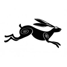 Our unique Moon Gazing Hare Sticker represents a strange and facinating part of British mythology, the Moongazing Hare is inextricably linked to the moon and is a symbol of fertility and life. Description from blacksheepstickers.co.uk. I searched for this on bing.com/images