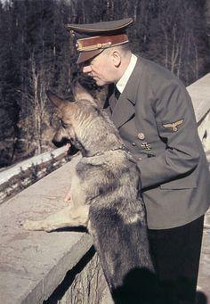 Adolf Hitler and his dog