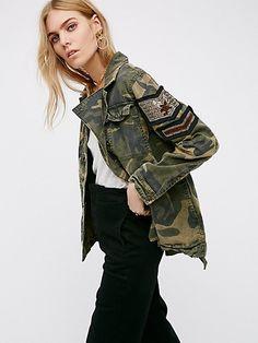 Product Image: Embellished Military Shirt Jacket
