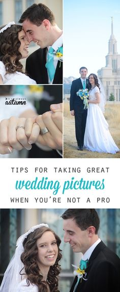 great tips on how to take great wedding photos even if you're not a pro photographer - I like #2!