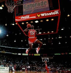 """Air Jordan"" dunk made famous by the one and only Michael Jordan at the 1990 Slam Dunk contest at the All Star Weekend"