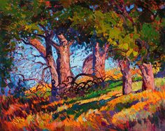 Modern California impressionist painter Erin Hanson paints another collectible work of art.