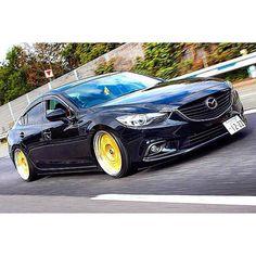 Rollers. 🚗 @yougatenza | #sixsquad #mazda #mazda6 #mazda3 #slammed #fitted #jdm…