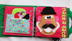 Custom Quiet Book Page Make a Face 2 Page by RoseInBloomCreations