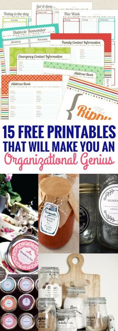 I've finally found what I've been looking for! Organizational printables for the home that are free and looks great. Definitely going to be making use of all of these free printables really soon.