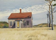 Edward Hopper (American, 1882-1967), House with Dead Trees, 1932. Watercolor on paper, 20 x 28 in.