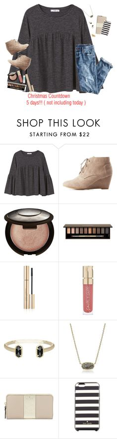 """Sorry I'm not caught up with my Christmas Countdown anyway, 5 days left!"" by moseleym ❤ liked on Polyvore featuring MANGO, Charlotte Russe, Becca, Clarins, Dolce&Gabbana, Maybelline, Smith & Cult, Kendra Scott, Kate Spade and Ariella Collection"