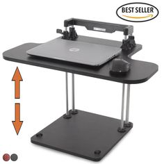 Uptrak Sit Stand Desk Converter Black Steady Standing - https://standsteady.com/collections/uptrak-sit-stand-desk/products/the-uptrak-standing-desk-the-only-sit-stand-desk-custom-designed-for-cubicles-cherry?variant=3453544515