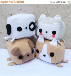 ON SALE Dog Animal Plush Kawaii Plushie Cute by HappyCosmos