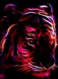 fractal tiger wallpaper | Fractal Tiger 3 by ~minimoo64 on deviantART