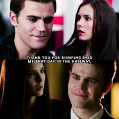 [1x01 & 8x16] — stelena bumping into each other parallel :') q: stelena or delena? (if delena, did you ever ship stelena before?)