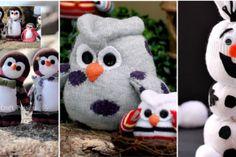 10 Modèles de peluches pour enfants, faites de chaussettes orphelines!!