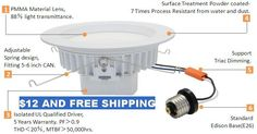 Lowest priced downlight,free shipping and 3 year warranty