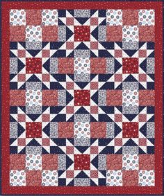 Sweet Liberty Quilt Pattern by Blank Quilting