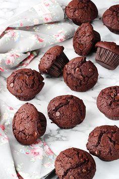 La receta más rica de Muffins de chocolate. La receta definitiva!