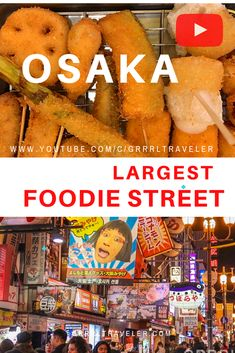 Osaka's Must Try Street foods in Dotonbori Street